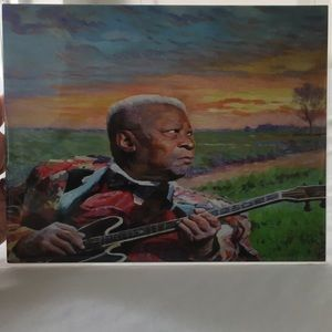 BB King Print of by Charles Chapin